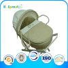 Color llano 3PCS Liner con Embroidery Baby Mose Basket