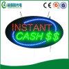 Le signe instantané LED d'argent comptant de LED adaptent le signe aux besoins du client (HIS0040)