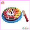 O brinquedo de madeira do aniversário das crianças cortou o brinquedo do bolo DIY (W10B068)