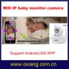 El soporte sin hilos de la cámara del monitor del bebé del IP de WiFi de dos vías habla