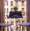 Bureau en plastique de balcon de Tableau de balustrade avec le planteur/entreposage en de bac de fleur