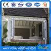 Glaspanel-Aluminium gestalteter Falz, der Balkon-Fenster schiebt