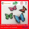 Bello magnete di legno di plastica del frigorifero del ferrito della farfalla del PVC/magnete artificiale della farfalla