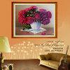 Diamante al por mayor que pinta el mosaico hermoso del diamante del bordado 5D de la flor para las decoraciones caseras
