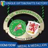 Livrar medalhas feitas sob encomenda baratas dos esportes do metal do zinco do projeto