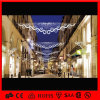 Motivo ao ar livre do diodo emissor de luz da decoração do Natal através da luz de rua
