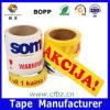 La alta adherencia imprimió la cinta del embalaje de la insignia OPP de la marca de fábrica