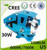 30W phare de laser de la moto DEL du CREE U5