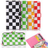 Lattice colorido Leahter Cell Phone Caso para o iPhone 6 Plus