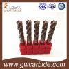 Каннелюры HRC50 резца 4 торцевой фрезы карбида