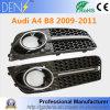De glanzende Zwarte Grills van de Dekking van de Mist Lichte voor Audi A4 B8 2009-2011
