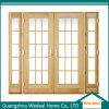 Type coulissant de patio en verre en bois de porte pour le projet