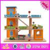 2016 giocattoli stabiliti di legno W04b036 del parcheggio dei bambini dei nuovi prodotti
