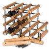 Völlig zusammengebaute hölzerne Flasche des Wein-Zahnstangen-Kiefer galvanisierte Stahl-40