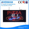 Hidly rectángulo de Protección Ambiental pizza LED Señal