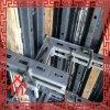 Molde concreto da parede com material de aço
