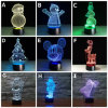 Creative Christmas Light 3D LED Night Light Projecteur 7 couleurs USB Night Light Indoor Kid's Christmas Gift