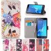 Caixa do couro da carteira da aleta da caixa do telefone para o iPhone da galáxia de Samsung
