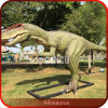 Dinosaurio con el dinosaurio mecánico sano de Dinopark