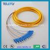 Ponticello ottico duplex della fibra di memoria dello Sc 12, cavo di ponticello