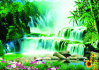 Bello Waterfall 3D Poster per Wall Hanging