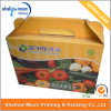 Design personnalisé Portable Food/Fruit Corrugated Box avec Handle (AZ122908)