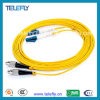 Cavo di zona di fibra ottica di FC-LC, cavo di fibra ottica