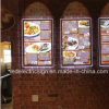Takeaways Restaurants를 위한 LED Light Box Magnetic Menu Display