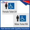 Het naar maat gemaakte Plastic Mannelijke/Vrouwelijke Teken van Braille van het Toilet