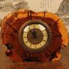 새겨진 나무로 되는 책상 시계 홈 훈장 자연적인 Handmade 벨