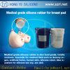 Rubber van het Silicone van de Behandeling van het Platina van de Borst van het silicone het Kunstmatige