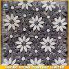 Nero Margiua y mosaico de mármol blanco de la flor de Carrara