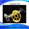 Steel di acciaio inossidabile Pineapple Peeler con Plastic variopinto Handle