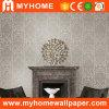 Papier peint profondément de relief de fleurs de PVC de damassé de Guangzhou (MK830206)