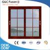 Doppia finestra di scivolamento di alluminio di vetro con il disegno delle griglie
