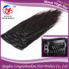 Unprocessed Cuticle Virgin бразильское Remy Hair Clip в человеческих волосах Extension (PSTB-A524)