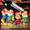 Harz Wine Holder Cute Resin Dwarfs auf Table