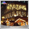 Luz de rua transversal dos motivos ao ar livre das decorações do Natal do diodo emissor de luz