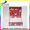 Caja de embalaje del regalo de la Navidad de la cartulina de la tapa del tirón con el llenador blanco de la cinta