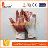 Белая Nylon перчатка работы нитрила красного вина (DNN339)