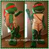 Traje da mascote dos desenhos animados das tartarugas