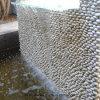 Белизны украшение плитки камня стены двери вне