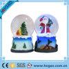 Regalo festivo de la Navidad de la decoración de la diversión del globo de la nieve de Navidad Santa