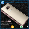 La galjanoplastia de goma cristalina Anti-Rasguña la caja suave clara del teléfono de TPU cabida para la nota 4 de la galaxia de Samsung