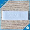 Het witte Centrum van het Etiket van 100% Polyester Geweven die voor Kleding wordt gevouwen