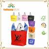 Sacos não tecidos baratos do presente de Eco com punho da corda & reforço com impressão feita sob encomenda do logotipo