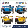DTH Hammer Dfq-100の携帯用Full Hydraulic Water Wagon Drill