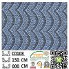 Nuovo fabbricato C0108 del merletto del poliestere del vestito da alta qualità della Cina di disegni