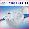 Witte Acrylic Massage Bathtub SPA met het Kader van het Roestvrij staal (bij-8346)