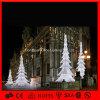Luzes sem fio da árvore de Natal do diodo emissor de luz da decoração branca ao ar livre